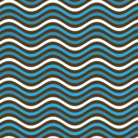 Tiny Blue Waves 12 fabric by eclectic_house on Spoonflower - custom fabric