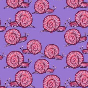 Snail [Squatty Purple] in thistle