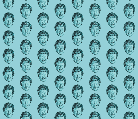 Julia Childs - kitchen Design fabric by hollywood_royalty on Spoonflower - custom fabric