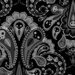 Ghost Paisley - black