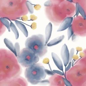 Fancy Flowers Test - ivory background