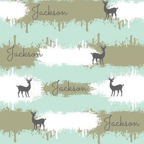 deer camo  2  MEDIUM - sky  personalized