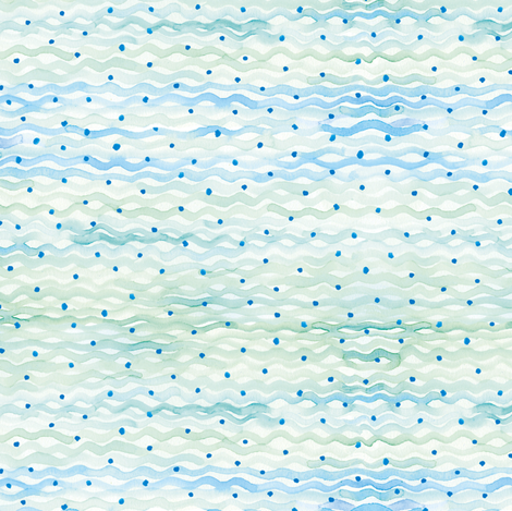 Waves Blue fabric by susanbranch on Spoonflower - custom fabric
