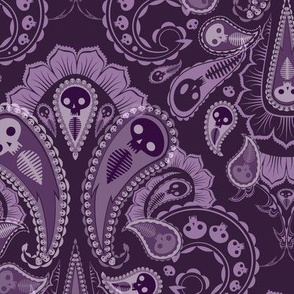 Ghost Paisley - purple