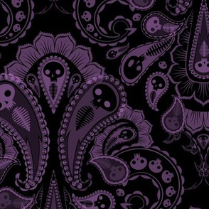 Ghost Paisley - purple & black