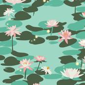 Tiana Waterlilies in Mint