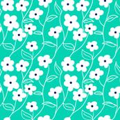 Wallflower Climbing Floral pattern
