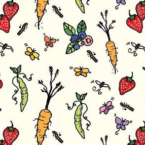 Farm Veggies & Fruit_burlap
