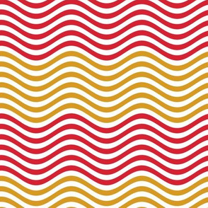 Red and Gold color Tiny Waves
