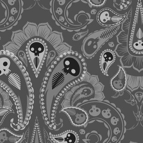 Ghost Paisley - gray