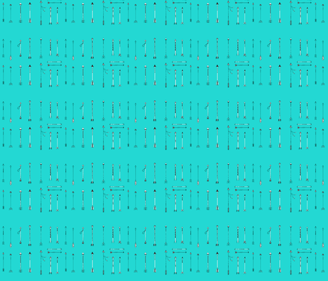 Turquoise Arrows small fabric by dreamoutloudart on Spoonflower - custom fabric