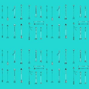 Turquoise Arrows small
