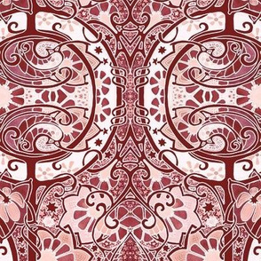 Red Paisley Pool Twister