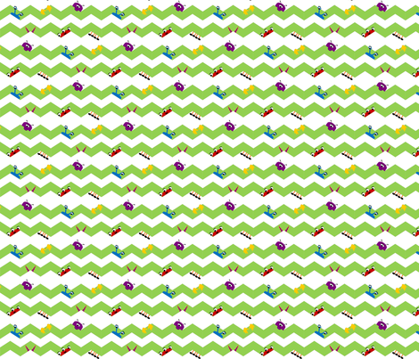 Little Chevron Monsters fabric by foxylinds on Spoonflower - custom fabric