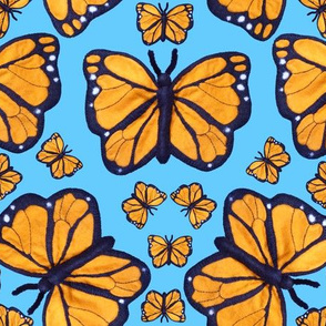 Felt Monarch Butterfly Pale Blue