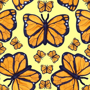 Felt Monarch Butterfly Lemon Yellow