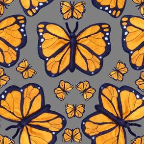 Felt Monarch Butterfly Mid Grey