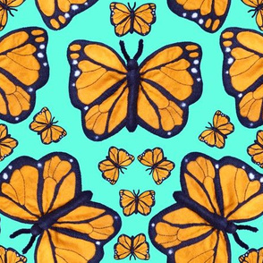 Felt Monarch Butterfly Pale Aqua