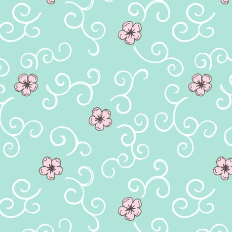 Rjapanese_garden_cherry_blossom_and_swirls_turquoise_300_hazel_fisher_creations_shop_preview