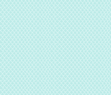 Fish Scales - light blue fabric by hazel_fisher_creations on Spoonflower - custom fabric