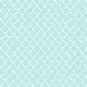 Fish Scales - light blue
