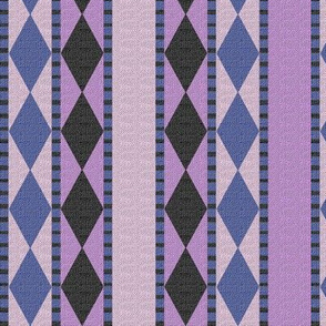 Diamonds and Stripes Lavender and Slate