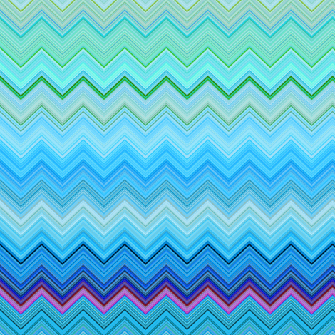 DREAM OF AN OCEAN BLUE SEA GARDEN CHEVRONS ZIG ZAG fabric by paysmage on Spoonflower - custom fabric