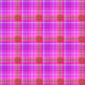 DREAM OF AN OCEAN HAPPY PINK SEA GARDEN PLAID