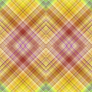 DREAM OF AN OCEAN YELLOW SUNNY AND GRASS SEA GARDEN  DIAGONAL PLAID LOZENGE