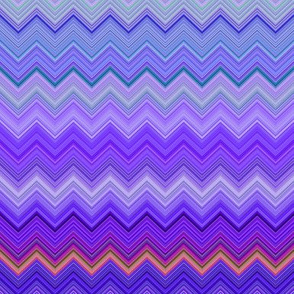 DREAM OF AN OCEAN PURPLE SEA GARDEN CHEVRON ZIGZAG