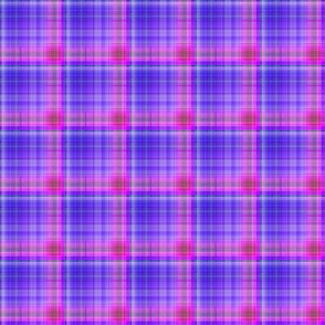 DREAM OF AN OCEAN PURPLE SEA GARDEN PLAID
