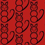 Mod Red Katze Kitty Cat sewindigo