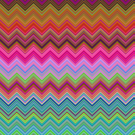 CRAZY MOON BALLOONS BUBBLES CHEVRONS ZIGZAG FUSHIA STRONG fabric by paysmage on Spoonflower - custom fabric