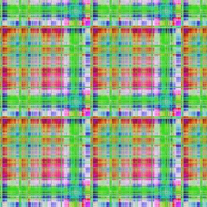 GRUNGE PLAID 2 summer spring Green Red Pink