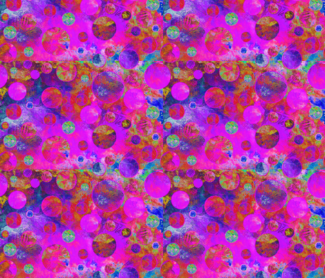 CRAZY MOON BALLOONS BUBBLES FUSHIA STRONG MYSTERIOUS fabric by paysmage on Spoonflower - custom fabric