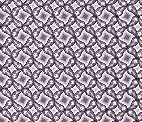 Ghost Circles - purple fabric by thecalvarium on Spoonflower - custom fabric