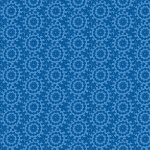 Circle Ikat Sky Blue/Navy