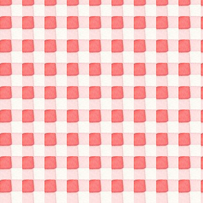 Red Gingham in Watercolor