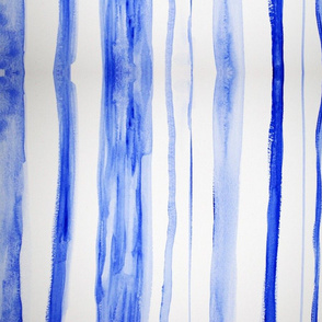 Blue watercolor stripe