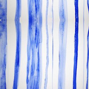 Blue watercolor stripe