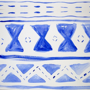 Blue Triangle Tribal