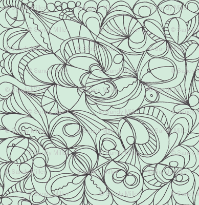 Line flowers/mint