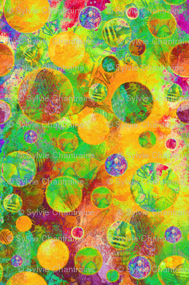 CRAZY MOON BALLOONS BUBBLES GEOMETRY PSYCHEDELIC  TROPICAL