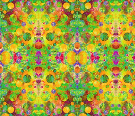 CRAZY MOON BALLOONS BUBBLES GEOMETRY PSYCHEDELIC  TROPICAL fabric by paysmage on Spoonflower - custom fabric