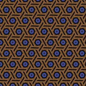 Bead Crochet Dark Brown Rattan