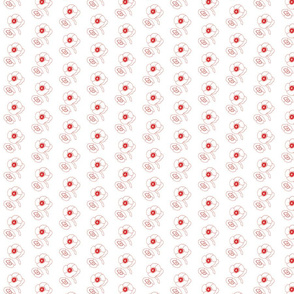 red&white small floral
