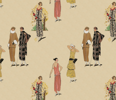 Twenties fashion plates fabric by unseen_gallery_fabrics on Spoonflower - custom fabric