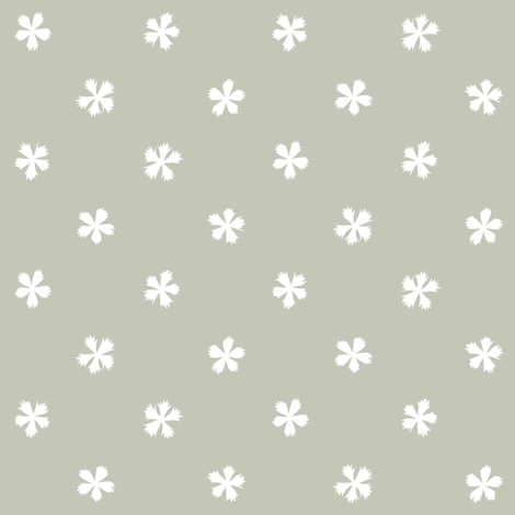 Carthusian Pink on Gray fabric by marketa_stengl on Spoonflower - custom fabric
