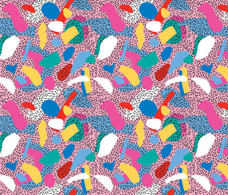 Candy Memphis Inspired Pattern 1 fabric by seasonofvictory on Spoonflower - custom fabric