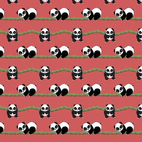 Panda fabric by cherryflowersgd on Spoonflower - custom fabric